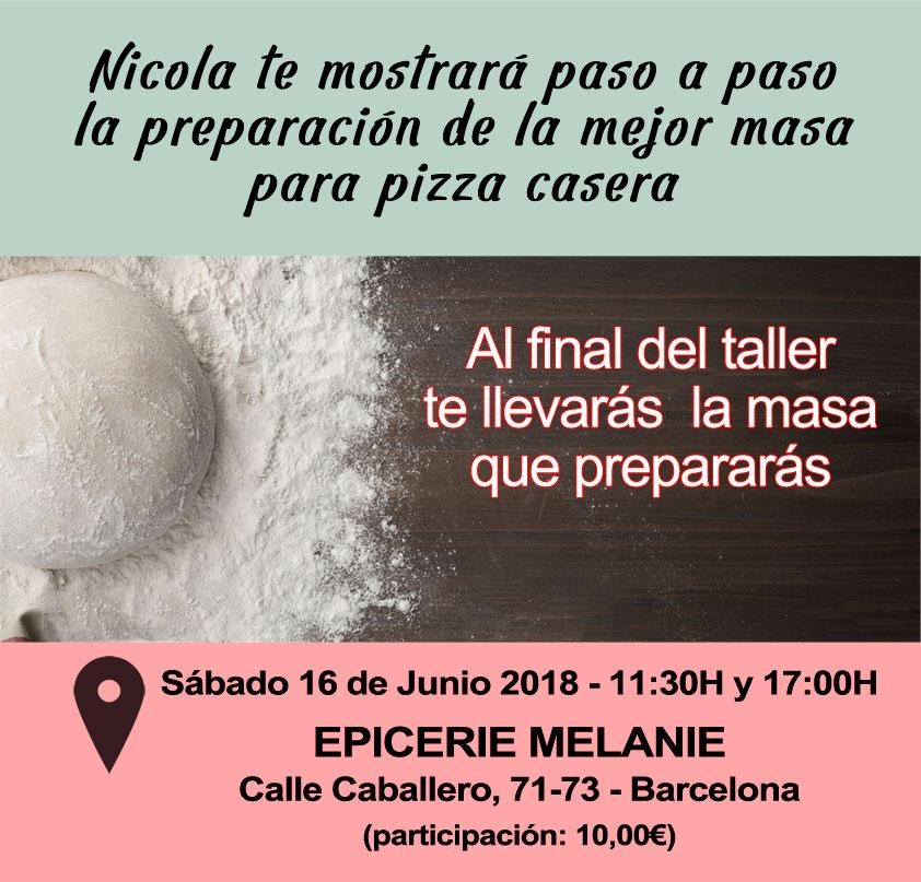 Taller masa de pizza en barcelona 16 junio 2018