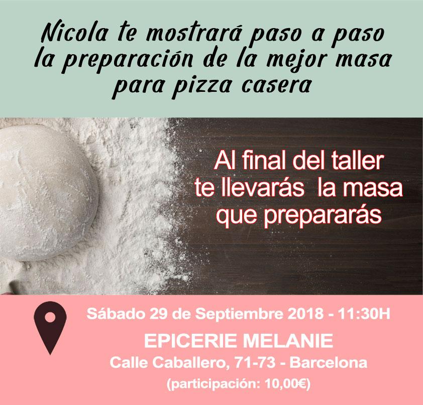 Taller masa de pizza en barcelona 29 septiembre 2018