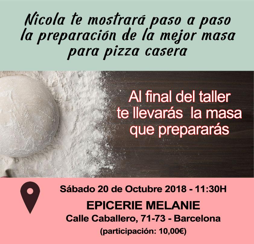 taller de cocina italiana masa de pizza en barcelona 20 octubre 2018